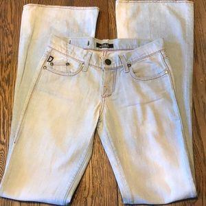 NWOT Rock & Republic light faded funky jeans sz 26